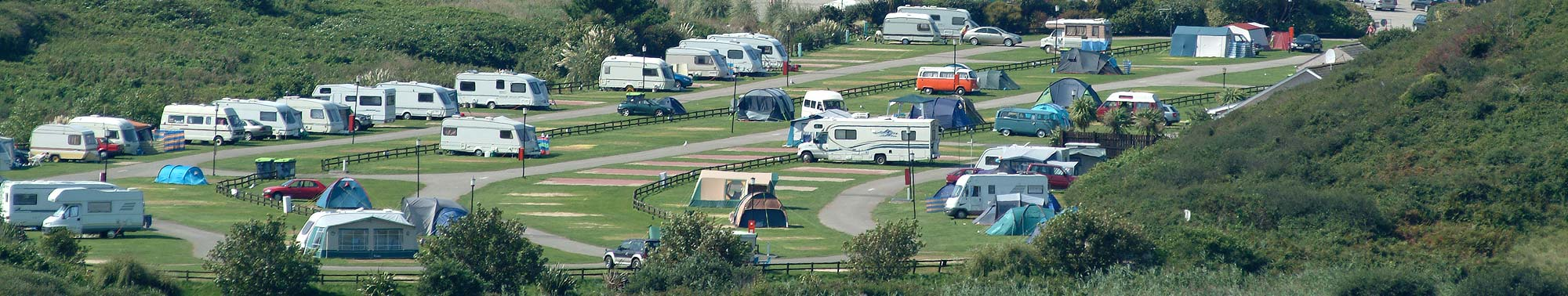 Touring and camping at Porth Beach Holiday Park