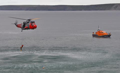 Newquay RNLI lifeboat Day