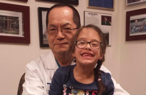 Gabby with Dr Park
