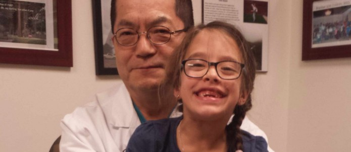 Gabby with Dr Park